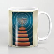 Art Deco Hanukkah Menorah Mug