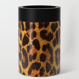 Glitter Leopard Print Can Cooler