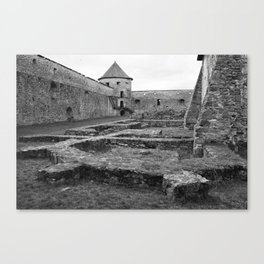 Fortress monastery courtyard and watchtower Canvas Print