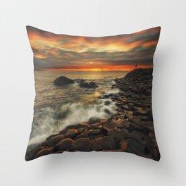 Basaltic Sunset Throw Pillow