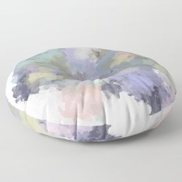 Floral Watercolor Abstract Floor Pillow