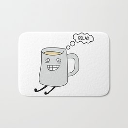 Keep Calm and Drink Tea. Relax time Bath Mat