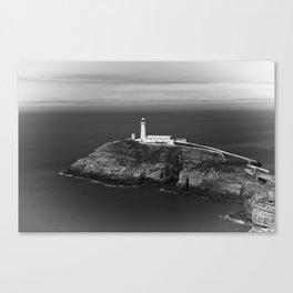 South Stack Lighthouse - Mono Canvas Print