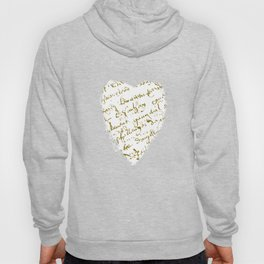 French Script on white Hoody