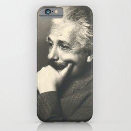 Albert Einstein rare photo iPhone Case