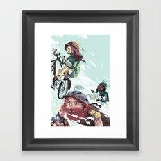Bikes Not Bombs Framed Art Print