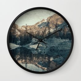 Lake Haiyaha Wall Clock
