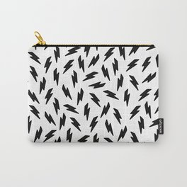 Black and white thunderbolt Carry-All Pouch