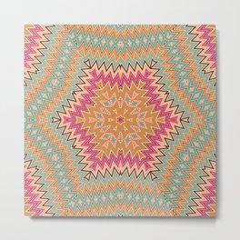 Ethnic geometric ornament Metal Print