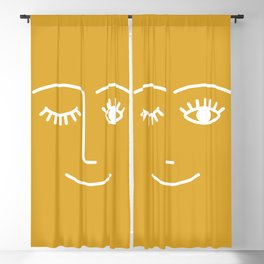 wink / mustard Blackout Curtain