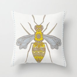 Mr Bee Throw Pillow