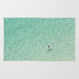 Naked swimming in Paradise Rug