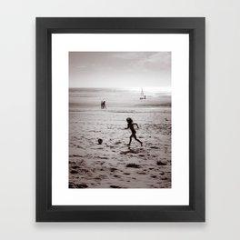 Foot Sea Framed Art Print