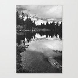 Mirror Lake BW Canvas Print