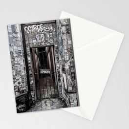 Grungy urban street photography poster print Stationery Cards