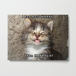 Happy Kitten Metal Print