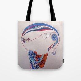 Erte Inspired Fashion Print Tote Bag