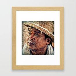 Face of Life. Framed Art Print