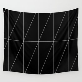Black Triangles by Friztin Wall Tapestry