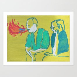 """Double Talk"" Art Print"
