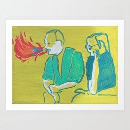 """""""Double Talk"""" Art Print"""