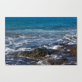 rock in the waves Canvas Print