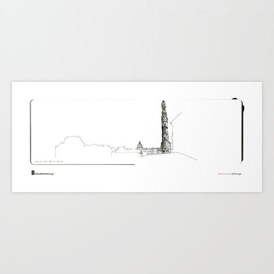 """Mário Linhares, """"Porto Tower"""" Art Print"""