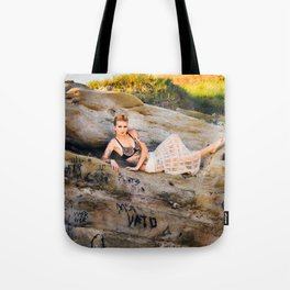La Jolla Beach Model, with Expression Unlimited Photography Tote Bag