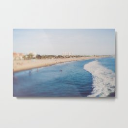 Beach Day at Santa Monica Metal Print