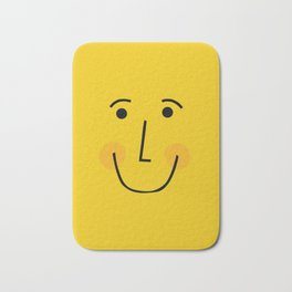 Smiley Face in Yellow Bath Mat