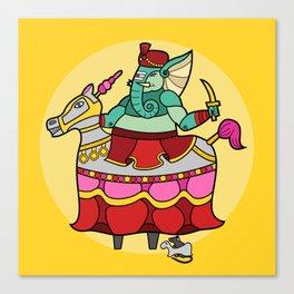 Ganesha Horse Dance Canvas Print