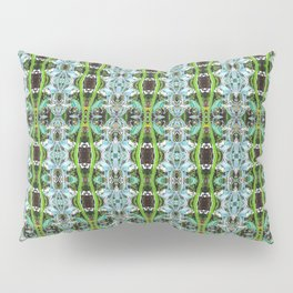 Jade Hearts Stained Glass Patten Pillow Sham