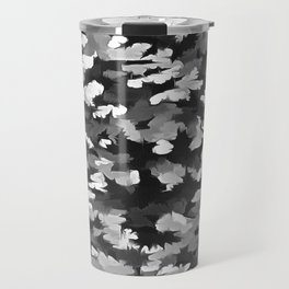 Foliage Abstract Pop Art In Monotone Black and White Travel Mug
