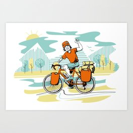 Bicycle Boy Art Print