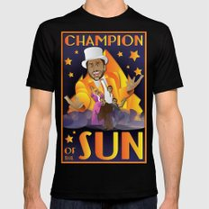 Champion of The Sun (The Nightman Cometh) X-LARGE Black Mens Fitted Tee