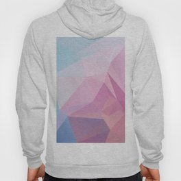 Low Poly Polygonal Geometric Design Pink and Blue 01 Hoody