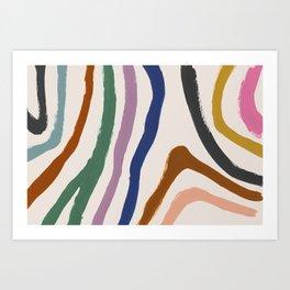Zébra pop Art Print
