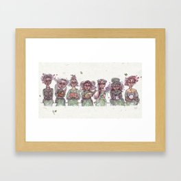 Concept Sketch for Original Seven Incognito Witches Framed Art Print