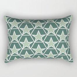 Green Pineappel Pattern Rectangular Pillow