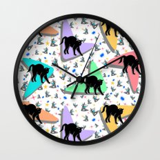 Retro Kitty Wall Clock