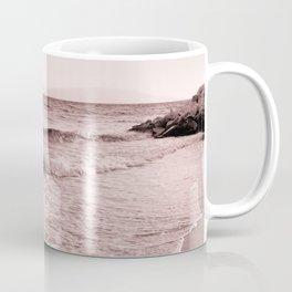 Beach days monochrome Seafoam Coffee Mug