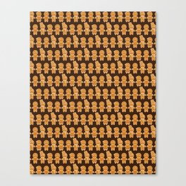 Gingerbread Cookies - Pattern Canvas Print