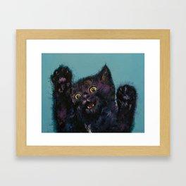 Ninja Kitten Framed Art Print