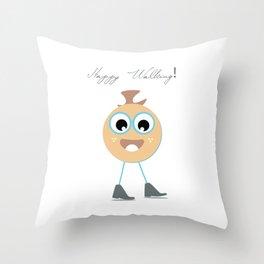 Happy walking Throw Pillow