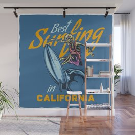 Best Surfing in California Wall Mural