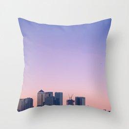Summer Skyline Throw Pillow