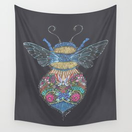 Bee Totem Wall Tapestry