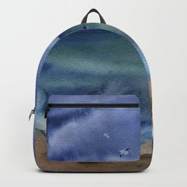 Thunderstorm at sea Backpack