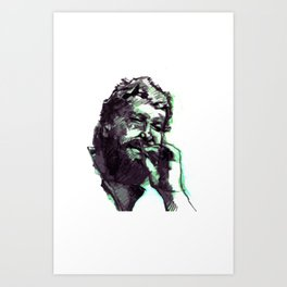 Bud Spencer and the cigar Art Print