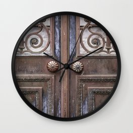 Mausoleum Doors Wall Clock